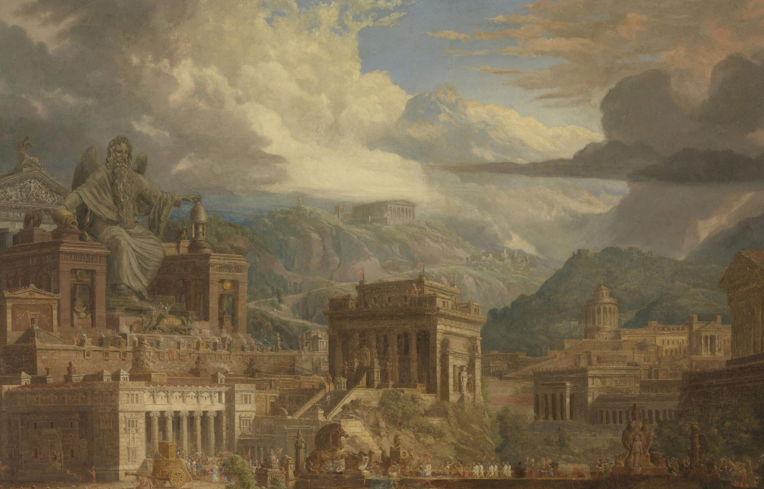 Joseph Michael Gandy, <i>Jupiter Pluvius</i>, 1819, oil on canvas, 188.5 x 228 x 14.5 cm. Tate (L03760). Digital image courtesy of Tate  (Creative Commons CC-BY-NC-ND 3.0 Unported).