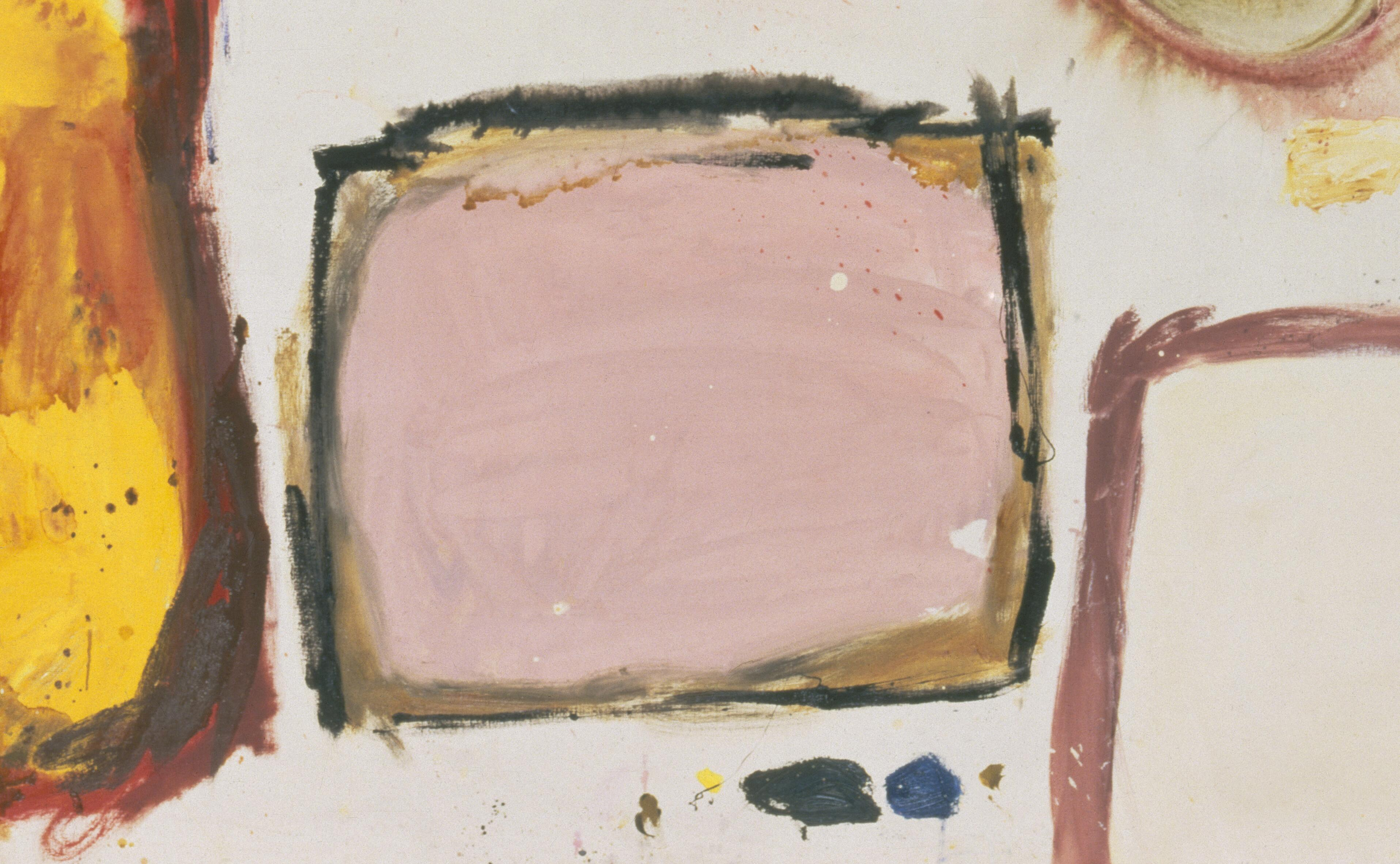 Gillian Ayres, <i> Break-off</i>, 1961, oil on canvas, 152.4 x 304.8 cm. Collection of Tate, London (T01715). Digital image courtesy of Estate of Gilliam Ayres | Photo Tate (All rights reserved).