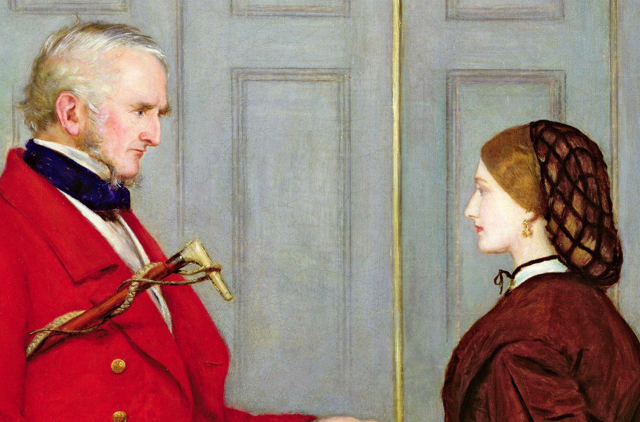 John Everett Millais, <i>Trust Me</i>, 1862, oil on canvas, 111.7 x 77.4 cm. Private Collection. Photo The Fine Art Society, London, UK | Bridgeman Images (All rights reserved).
