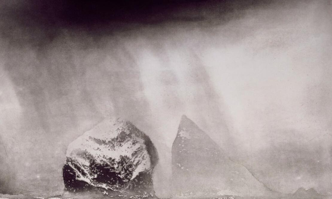 Norman Ackroyd, <i>St Kilda—Stac Lee and Stac an Armin</i>, 1990, etching and aquatint, 43.8 x 59.2 cm. Collection of Royal Academy of Arts, London (03/4351). Digital image courtesy of Royal Academy of Arts, London | Photo: John Hammond (All rights reserved).