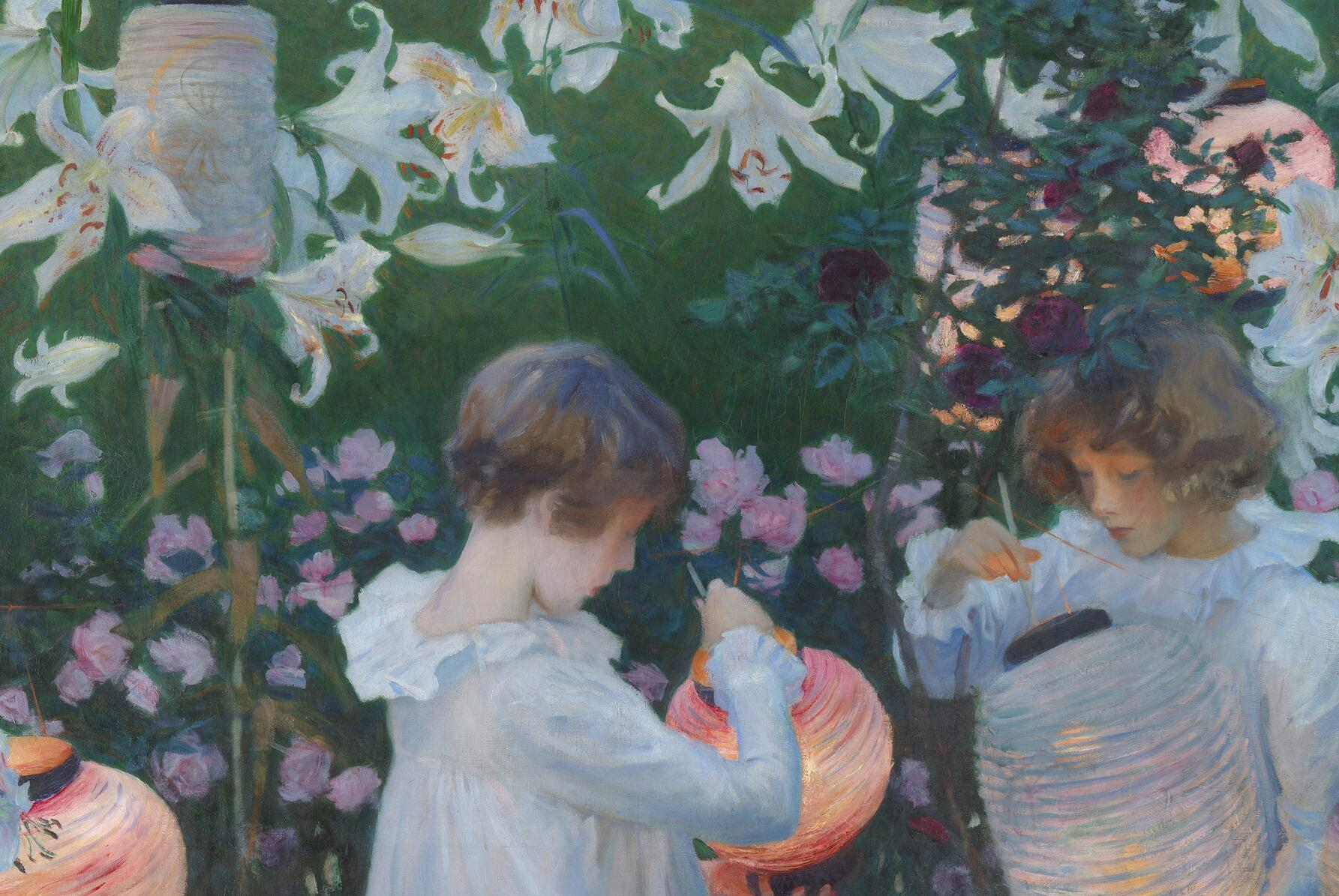 John Singer Sargent, <i>Carnation, Lily, Lily, Rose</i>, 1885–86, oil on canvas, 174 x 153.7 cm. Collection of Tate (N01615). Digital image courtesy of Tate (Creative Commons CC-BY-NC-ND (3.0 Unported)).