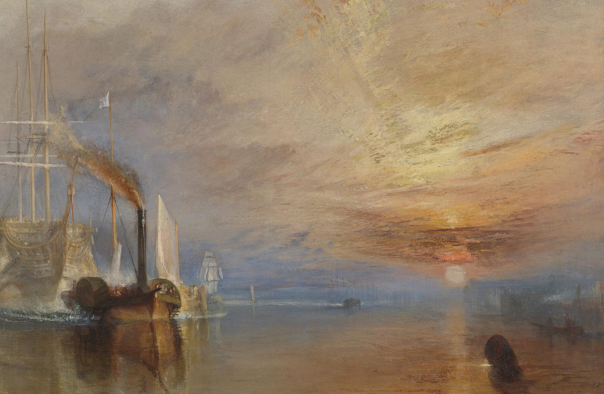 Joseph Mallord William Turner, <i>The Fighting Temeraire</i>, 1839, oil on canvas, 90.7 x 121.6 cm. Collection of The National Gallery, London (NG524). Digital image courtesy of The National Gallery, London (All rights reserved).
