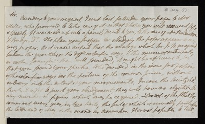 Draft of a letter from Charles Blagden to Henry Brougham (later Baron Brougham and Vaux)