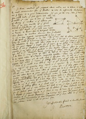 Isaac Newton to Edmund Halley