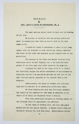 Extract of Capt. Scott's letter of proceedings n. 4
