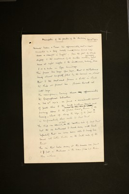 Description of the position of the 'Discovery' by Captain Robert Falcon Scott