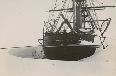 Stern of ship showing drift