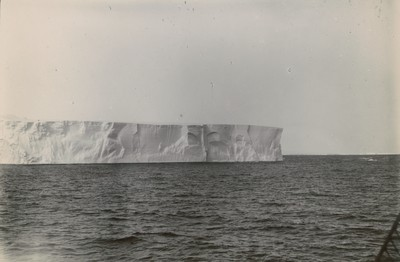 Part of the tabular iceberg 260 feet high