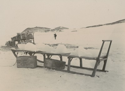 Sledge cargo of ice