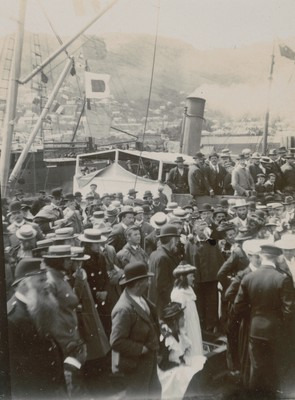 The crowd at Lyttelton