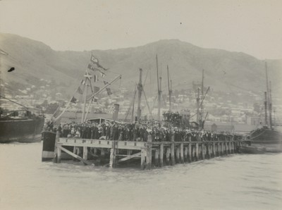 Seeing ship off at Lyttelton