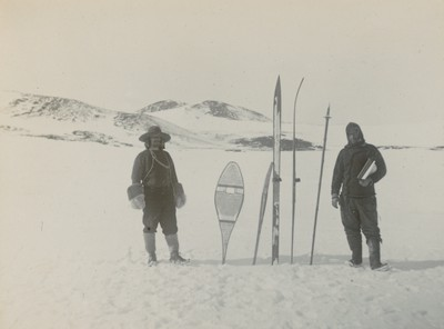 Wild and Allen on ski with snowshoes