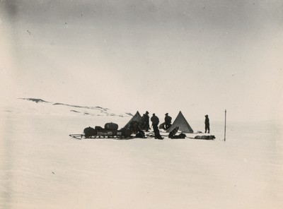 Glacier sledge camp