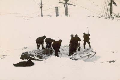 Digging out the boats