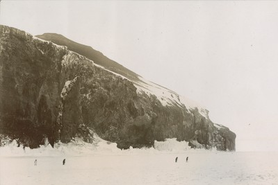 The cliffs of Cape Crosier when the Barrier joins land looking N.W.