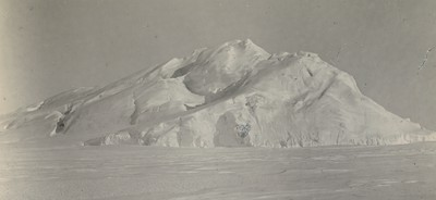 Iceberg frozen in 1 1/2 miles of Razorback Island