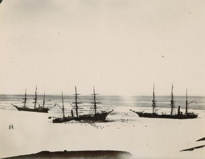 Relief ships in Discovery's Winter Quarters