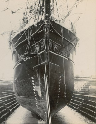 Ship in dry dock, Dundee