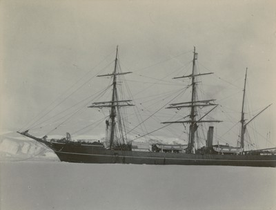 Ship in ice creak, Lady Newnes Bay