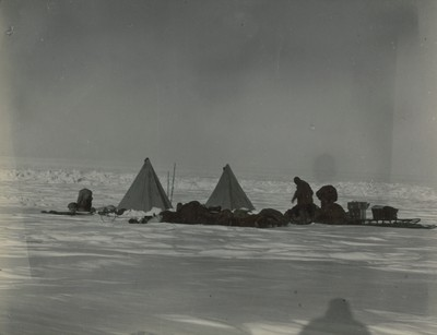 The camp before the five days blizzard