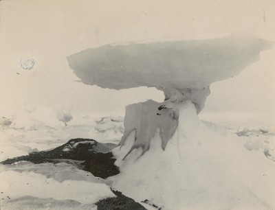 Ice mushroom in morainic ice