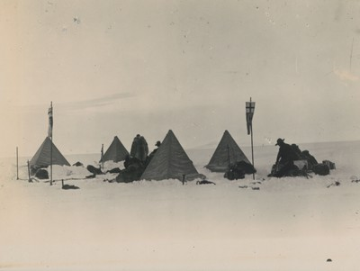 Camp of Mount Ferrar sledge party