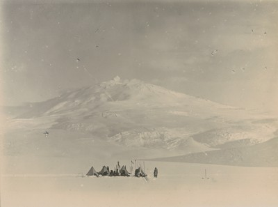Camp under Mount Erebus