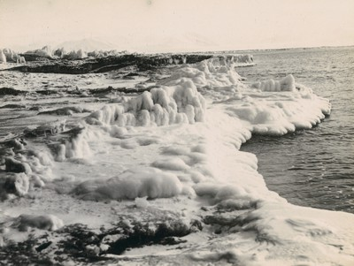 Edge of old ice in McMurdo Strait