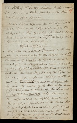 Note of Mr Ivory relating to the correcting of an error in a paper in the PT for 1838, pp. 57.