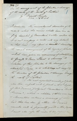 On the Arrangement of the Foliation and Cleavage of the Rocks of the North of Scotland, D. Sharpe